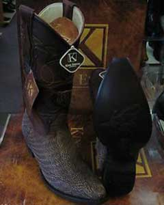 King Exotic Boots brown color