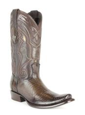 JSM-4285 Mens Wild West Dubai Square Toe Genuine Teju