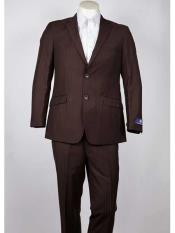 SM1017 Slim narrow Style Fit Chocolate 2 Button Style