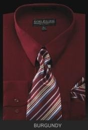YK2990 Dress Shirt - PREMIUM TIE - Burgundy ~