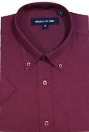 Men's Basic Button Down Burgundy