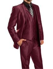 Mens Sharkskin Metallic Silky