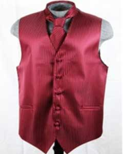 VS6257 Vest Tie Set Burgundy ~ Maroon ~ Wine