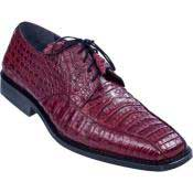 KA4632 Gator Skin Dress Shoe – Burgundy ~ Maroon