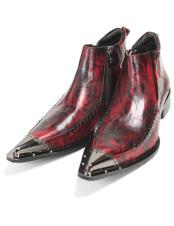 CH2421 Mens High Fashion Burgundy leather boot zota Zota