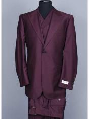 SM1223  3 Piece Big Peak Lapel Suit Vested