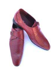 JSM-5039 Mens Stylish Wave Designed Cap Toe Burgundy ~
