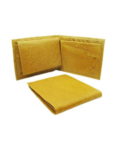 MOA1922 Ostrich Wallet - Buttercup ID Holder Bifold Smooth