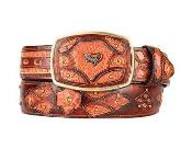 Fashion Western Belt Cognac