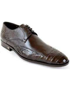 Brown Dress Shoe Cai (Gator)