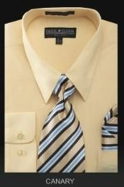 NK9183 Dress Shirt - PREMIUM TIE - Canary