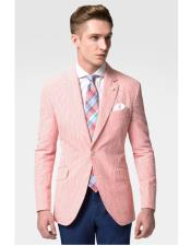 JSM-6637 Mens Fashion Casual Slim Fit Blazer Suit Jacket