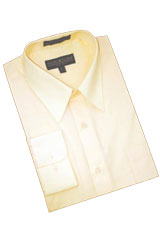 ET757 Solid Champagne Cotton Blend Dress Shirt With Convertible
