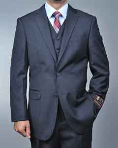 SD7289 Dark Grey Masculine color Grey 2-button Vested Suit
