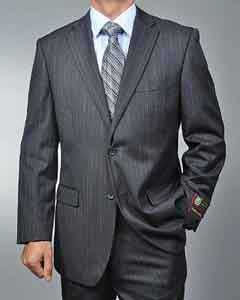 WE4410 Dark Grey Masculine color Grey Pinstripe 2-button cheap
