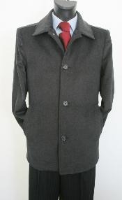 CK9522 Car Coat Style Dark Grey Masculine color