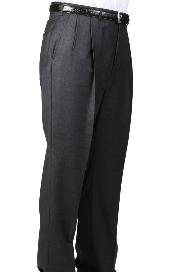 Charcoal Parker Pleated Slacks