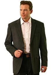 Wool Fabric Two Button Blazer
