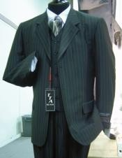 ACT_T63TRS Wide Pinstripe In Dark Grey Masculine color Grey