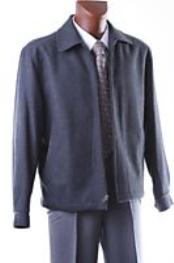 Dark Grey Masculine color ZIPPER