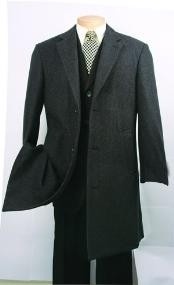 CK340 Dark Grey Masculine color Fully Lined Wool Fabric