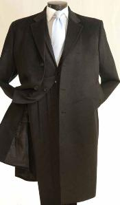 HK5382 3/4 Length Car Coat in Cashmere Feel Dark