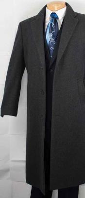 XV9222 Cashmere Blended Top Coat - Dark Grey Masculine