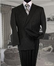 UK9222 Dark Grey Masculine color Suit With Pinstripe Full