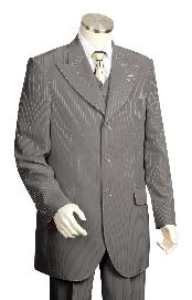 FR7834 3 Piece Vested Dark Grey Masculine color Fashion