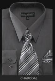 MA4994 Dress Shirt - PREMIUM TIE - Dark Grey