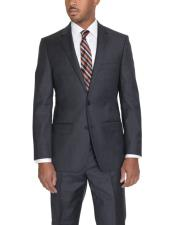 JSM-6104 Mens 2 Button Classic Fit Wool Single Breasted