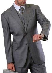 Mens Plaid Suit 3 Piece