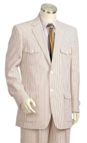 mens Pinstripe Quad Dual Side