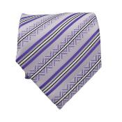 KA6702 Slim narrow Style Classic Purple color shade Striped