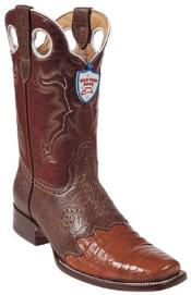 ZG7842 Wild West Cognac Cai Belly Wild Rodeo Toe