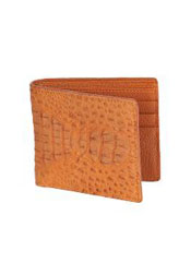 COG1577 Wallet ~ billetera ~ CARTERAS Cognac Genuine Crocodile