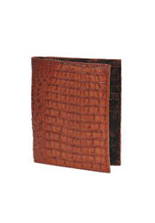 THN9128 Wallet ~ billetera ~ CARTERAS Cognac Genuine Crocodile