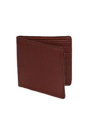 CKL1782 Wallet ~ billetera ~ CARTERAS Cognac Genuine Elk