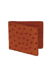 WQC5524 Wallet ~ billetera ~ CARTERAS Cognac Genuine Ostrich