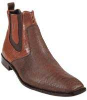 Product#KA9863CognacGenuineSharkDressyBoot