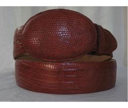 JR45W Genuine Authentic Cognac Lizard Teju Western Cowboy Belt