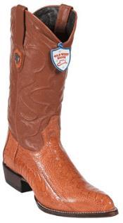 VM8945 Wild West Cognac Ostrich Leg Cowboy Boots