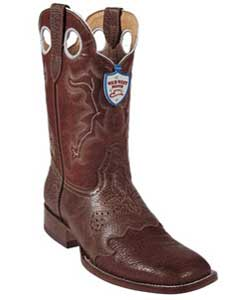 BT7644 Wild West Cognac Shark Wild Rodeo Toe Boots