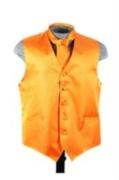 VS6279 Vest Tie Set Orange