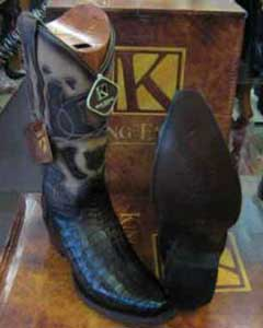 SM189 King Exotic Boots Genuine Crocodile Snip Toe Western