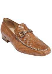 JSM-1336 Mens Belvedere Saddle Crocodile Top Stitched Loafers