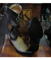 RM1027 King Exotic Boots Genuine Crocodile Snip Toe Western
