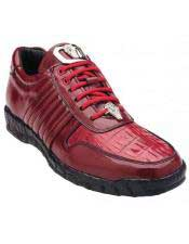 JSM-4349 Belvedere Astor Genuine Red Crocodile / Soft Calfskin