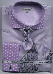 MK753 Daniel Ellissa Polka Dot French Cuff Dress Shirt