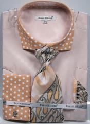MK748 Daniel Ellissa Polka Dot French Cuff Dress Shirt